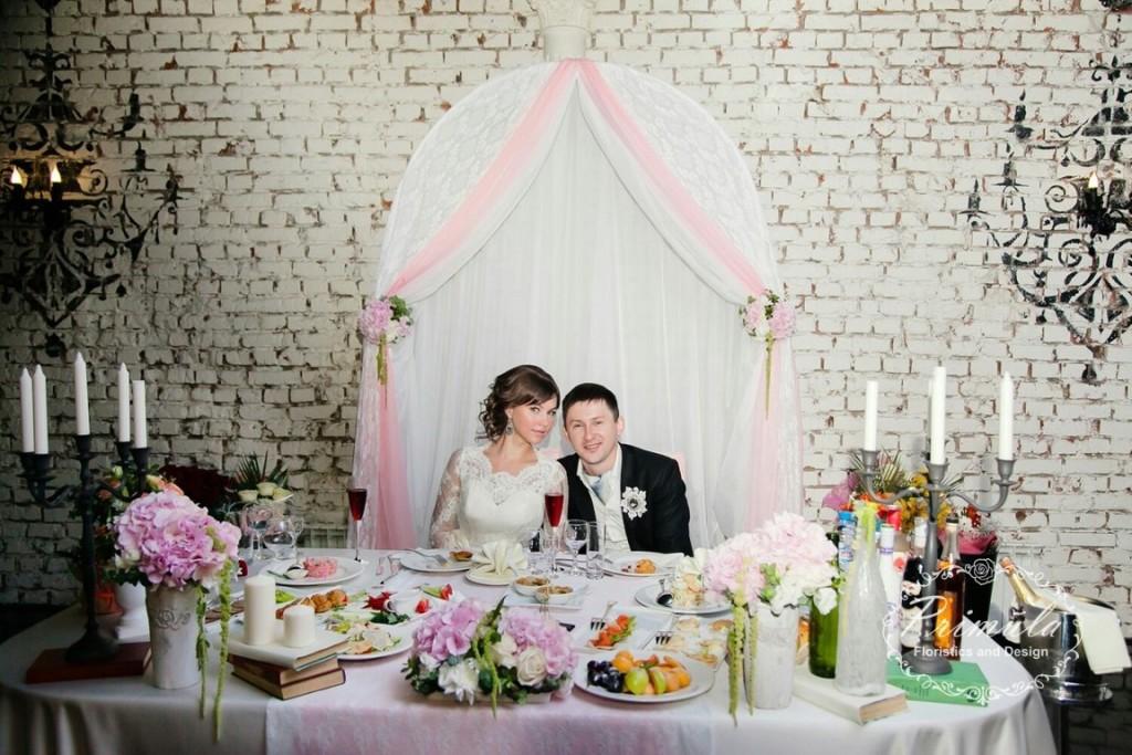 """Оформление банкета в сети свадебных залов """"Априори"""""""