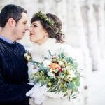 Зимний букет невесты в Новосибирске