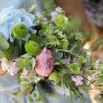 Букет невесты с гортензией и пионами в Новосибирске