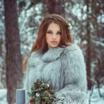 Зимний букет невесты из хлопка и шишек от Марики Шмидт