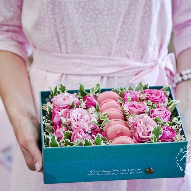 Цветочные коробочки в Новосибирске